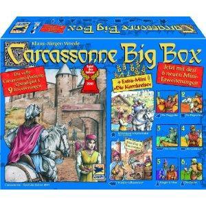 Carcassonne Big Box (Grundspiel mit 9 Erweiterungen) für 29,95 € im REAL [evtl. lokal in Düsseldorf/Köln, auch Online!]