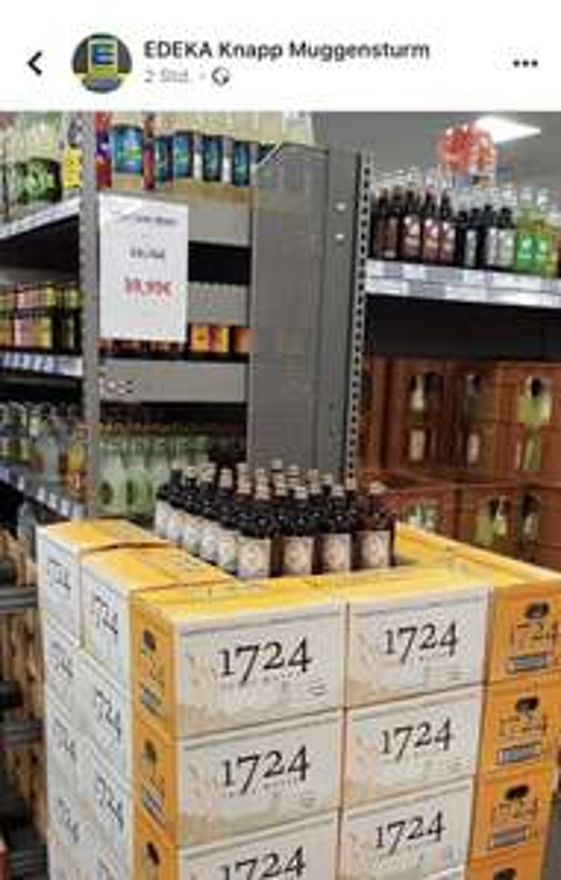 [Edeka Knapp Muggensturm]1724 Tonic Water - 24x für 39,99€ + Pfand. Ideal zum Monkey 47 Gin