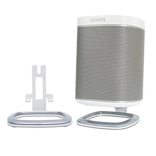 Flexson FLXP1DS2011 Tisch-Ständer (2er Pack) für SONOS PLAY:1 in weiß und schwarz