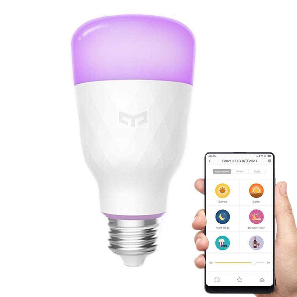 Xiaomi Yeelight YLDP06YL Smart Glühbirne 2.Gen (10W, RGB, E27) für 13,85€