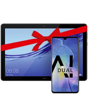 [O2] Huawei Mate 20 und Tablet Mediapad T5 10.0 (LTE) für zusammen 677,99 EUR