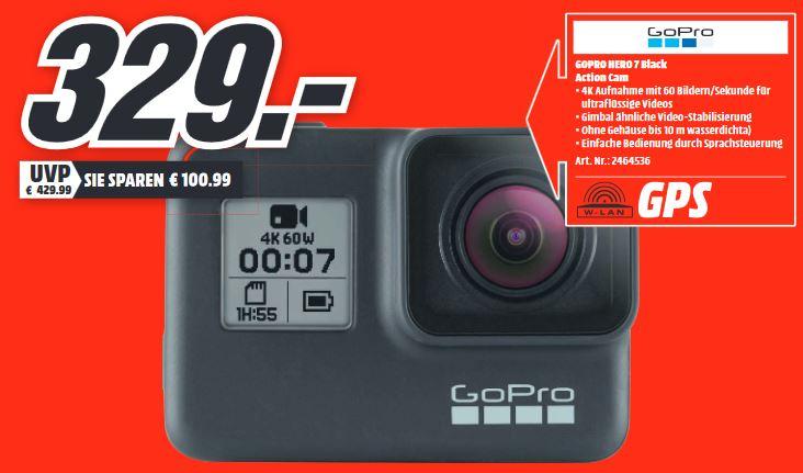 [Lokal MediaMarkt MTZ Sulzbach (bei Frankfurt)] GoPro Hero 7 Black Action Cam - 329,-€