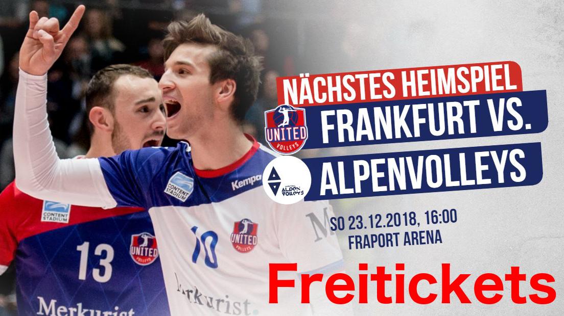 Exklusiv MyDealzer: Freitickets Volleyball Bundesliga United Volleys Frankfurt 23.12 (Mainz, Wiesbaden)