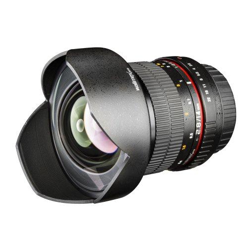 Walimex Pro 14mm 1:2.8 DSLR Weitwinkelobjektiv AE (feste Gegenlichtblende, für Nikon F Objektivbajonett) für lustige Katzenbilder bei Amazon