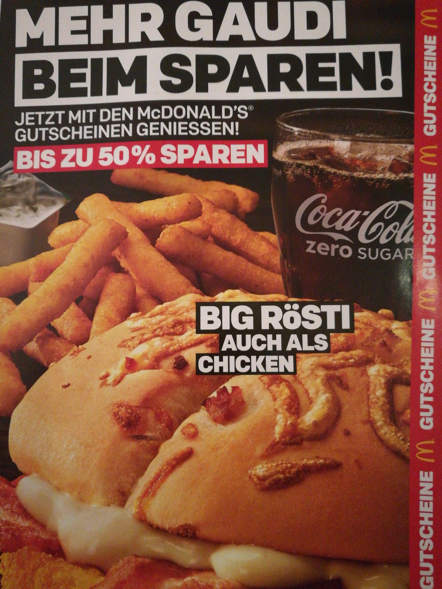 [McDonalds] Gutscheine/Coupons ab 07.01.19 - 03.02.2019 z.B. 22 Chicken Nuggets für 4.99 Euro