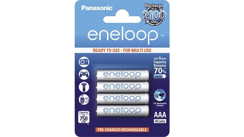 Panasonic eneloop HR03 Micro (AAA)-Akku NiMH 750 mAh 1.2V 4St für 5,82 € + 4,90€ VSK