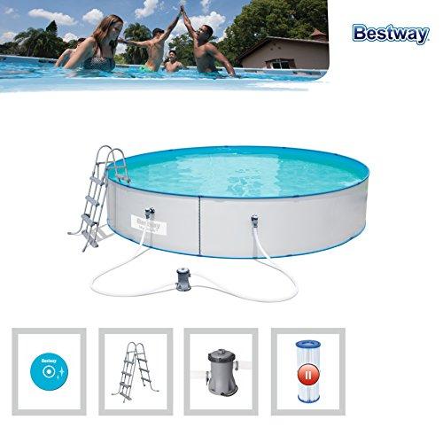[AMAZON] Bestway Hydrium Splasher Pool Set, rund, 14110 L, weiß, 460 x 90 cm