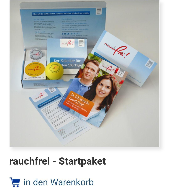 Rauchfrei Startpaket kostenlos