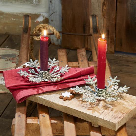 10€ Gutschein ab 10€ MBW zzgl. Versand bei Loberon durch Umfrage, z.B. 2er-Set Kerzenständer Nissa aus Glas und Eisen
