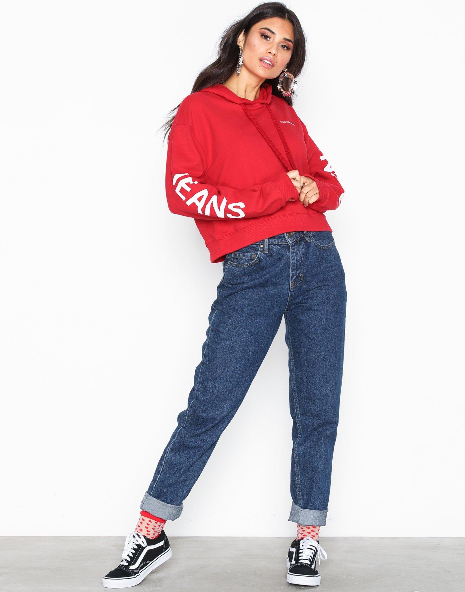 Nur heute: 20% auf Oberteile, z.B. Calvin Klein Jeans Cropped Hoodie