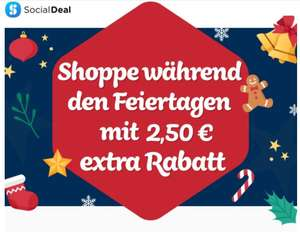 [Social Deal] 2,50€ Rabatt auf Deals