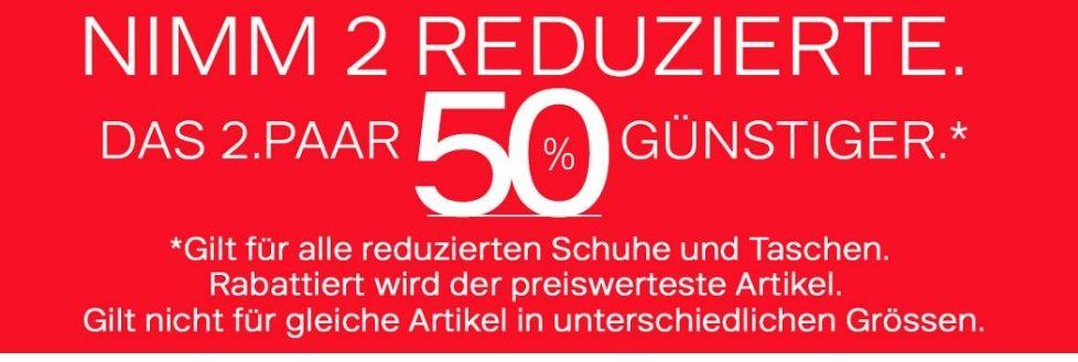 Deichmann SALE: Bei 2 reduzierten Artikeln gibt es das zweite 50% günstiger