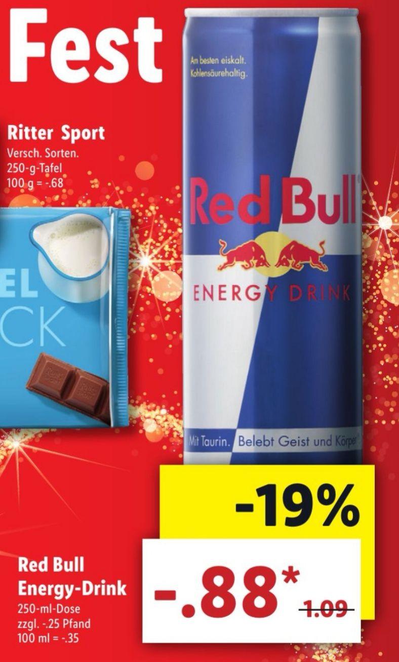 [LIDL] Red Bull Energy Drink für je 0,88€
