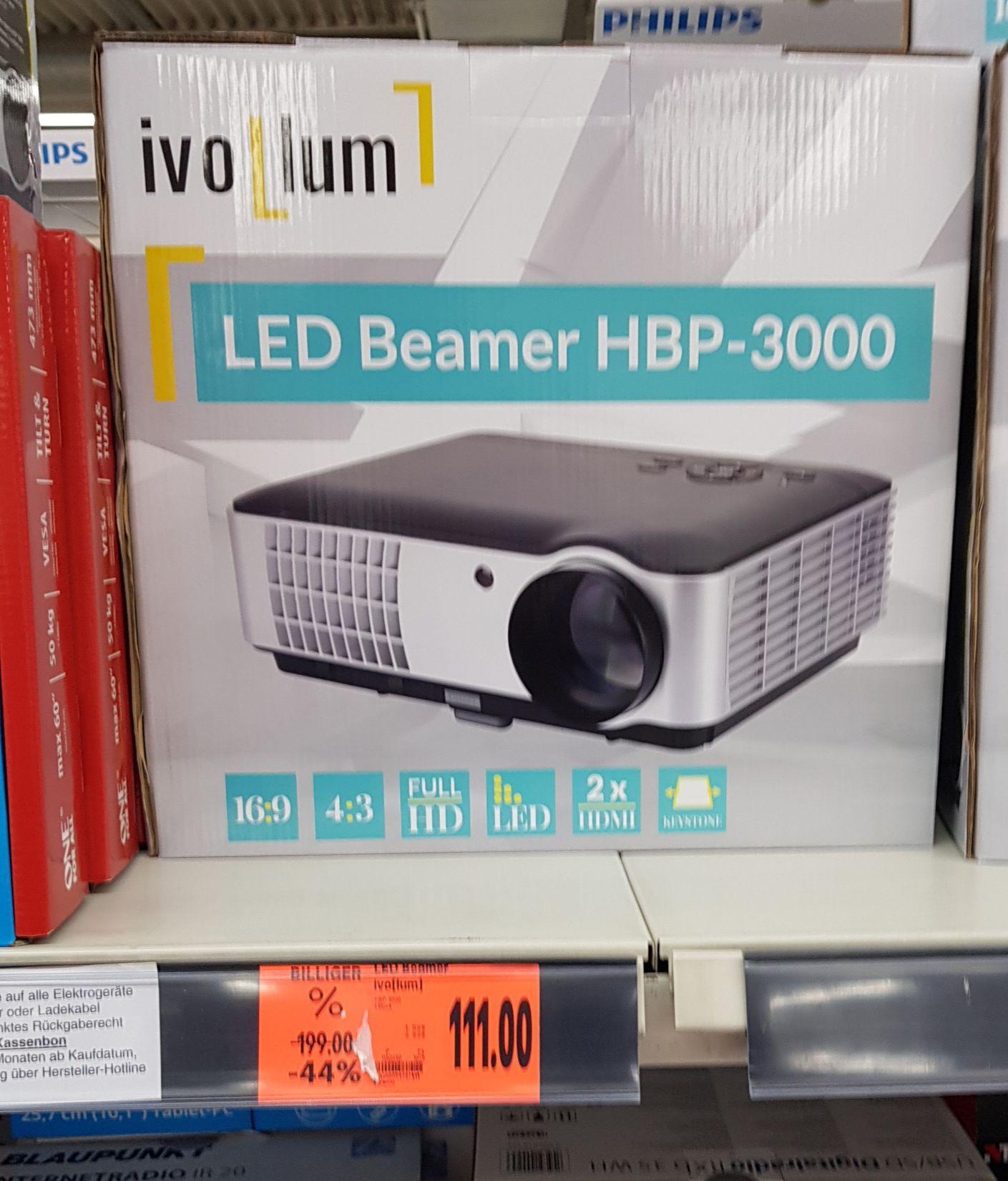 [Offline]  ivolum LED Beamer HBP 3000 -  2800 Lumen @ Kaufland
