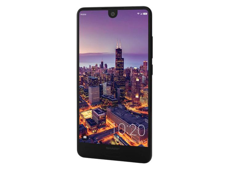 Sharp Aquos C10 Dual SIM (5.5 Zoll) 17:9 IGZO-Full HD+, 64 GB + 4 GB RAM, Android 8.0, USB-C, Fingerabdrucksensor, Face Unlock, Schwarz