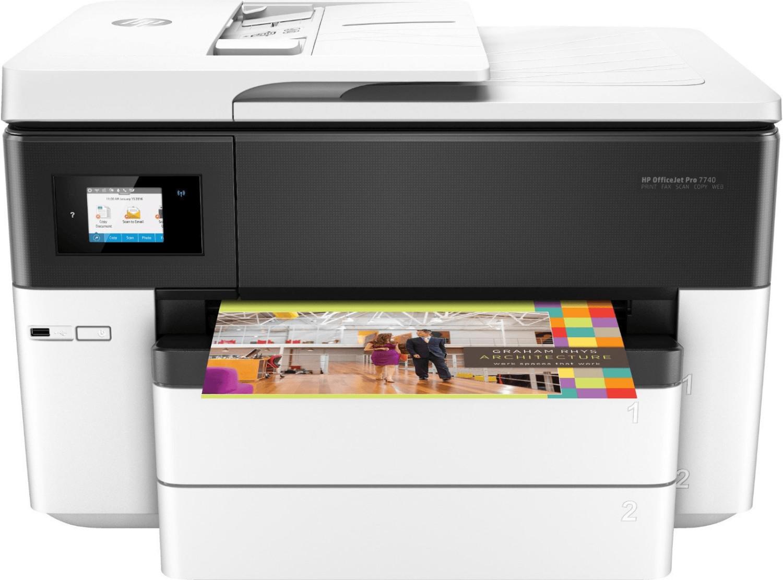 HP OfficeJet Pro 7740 (A3 & A4, Duplexdruck, 22/18 S/min, 500 Blatt, Scanner, Kopierer, Fax, Dual-Duplex-ADF, WLAN, LAN, USB) + 30€ Cashback