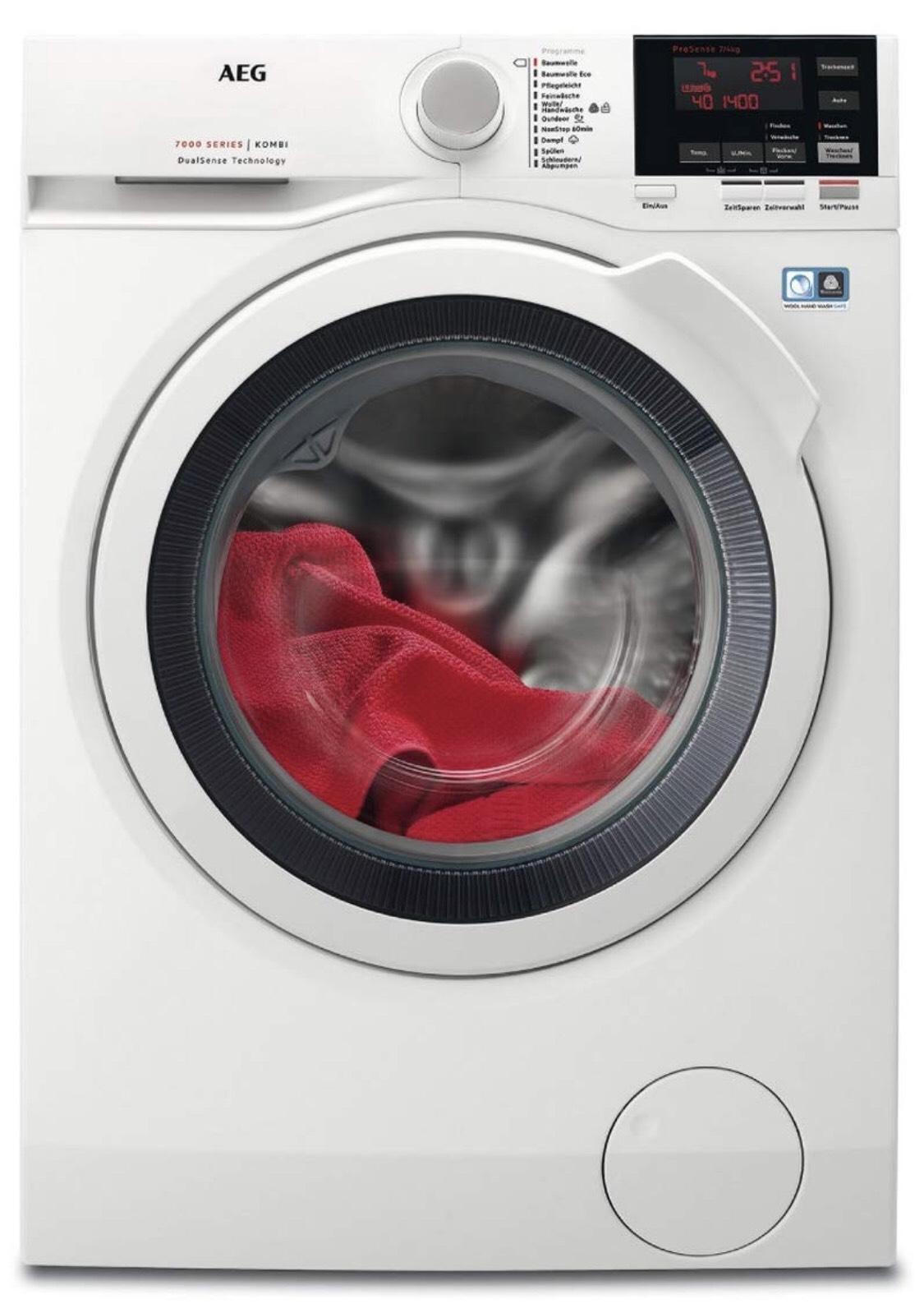 Amazon AEG L7WB64474 Waschtrockner Frontlader / Waschmaschine (7 kg) mit Trockner (4 kg) Energieklasse A