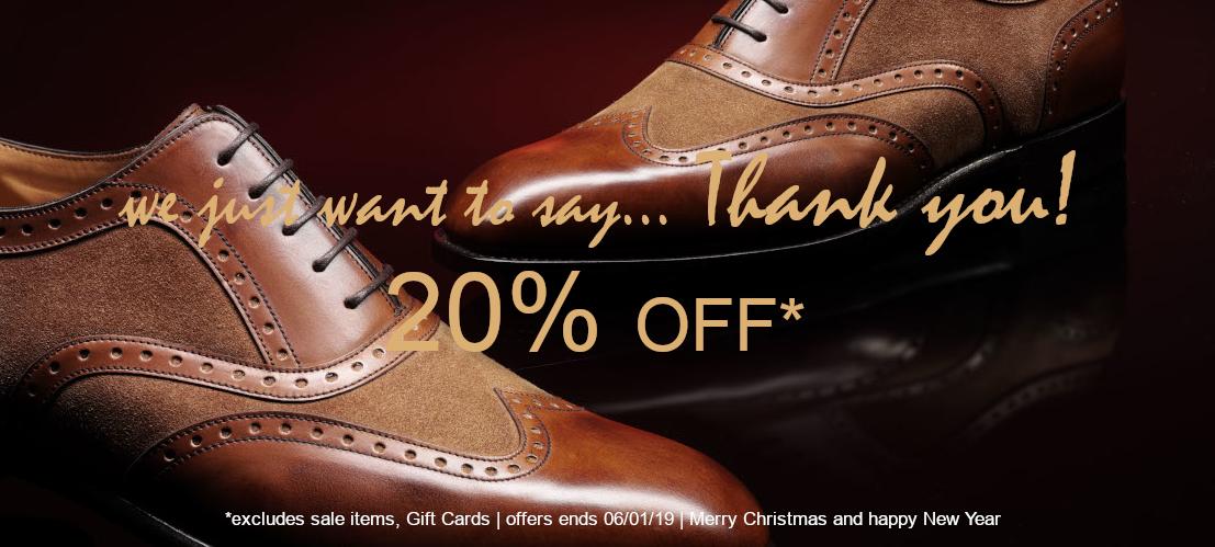 Langer & Messmer - 20% auf alle Artikel (außer Sale) z.B. Loake Schuhe
