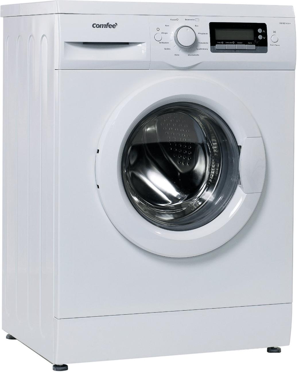Neujahrsangebote für den Haushalt: z.B. Waschmaschine Comfee' WM 6014 (A+++, 6kg, 1400 U/min)