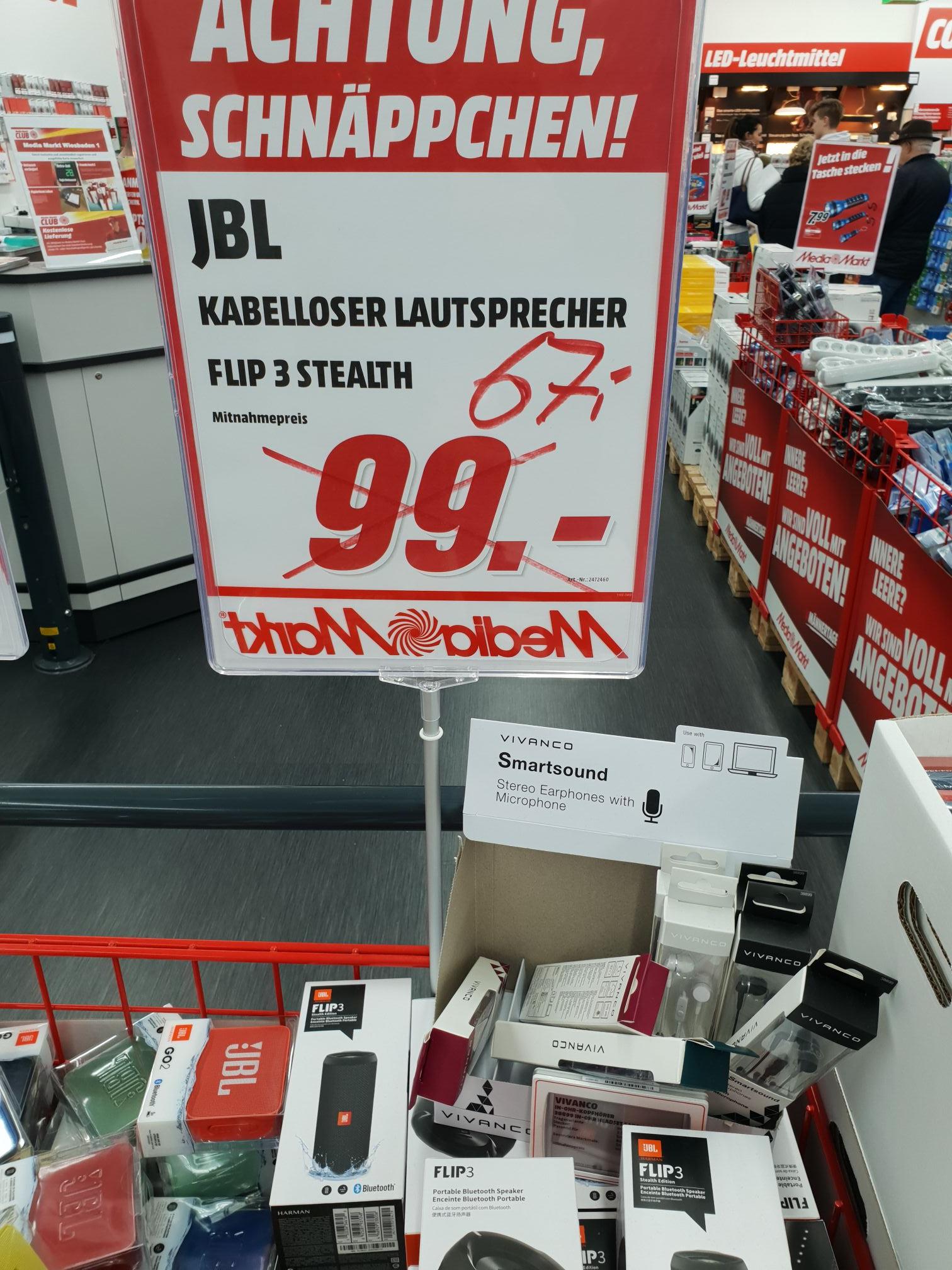 [LOKAL - MM Wiesbaden Hasengartenstr.] JBL Flip 3 Stealth