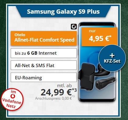 Otelo Allnet-Flat Comfort 6GB mit LTE möglich (Vodafone) + Samsung Galaxy S9 Plus Duos *UPDATE*