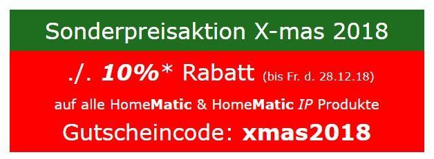 10% auf alle Homematic Produkte (auch IP)