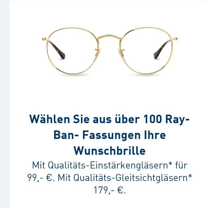 [LOKAL?]Rayban Brille/Sonnebrille mit Gläsern/Sehstärke für 99 oder Gleitsicht für 179