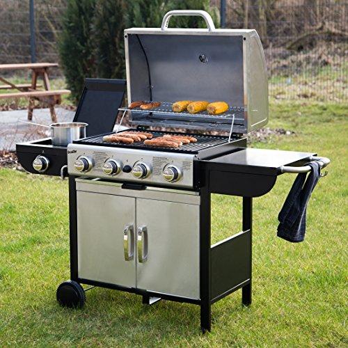 amazon bruzzzler 4 1 gasgrill profi grillstation f r bbq r uchern und grillen mit 4. Black Bedroom Furniture Sets. Home Design Ideas