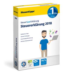 SteuerSparErklärung 2019 für 19,95 € als Download oder als DVD (inkl. Versand) im Spar-Abo (jederzeit kündbar)@Steuertipps.de