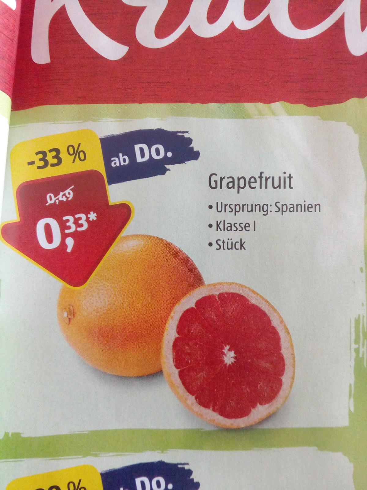 [Aldi Süd]  Spanische Grapefruit für nur 0,33€ |ab 27.12