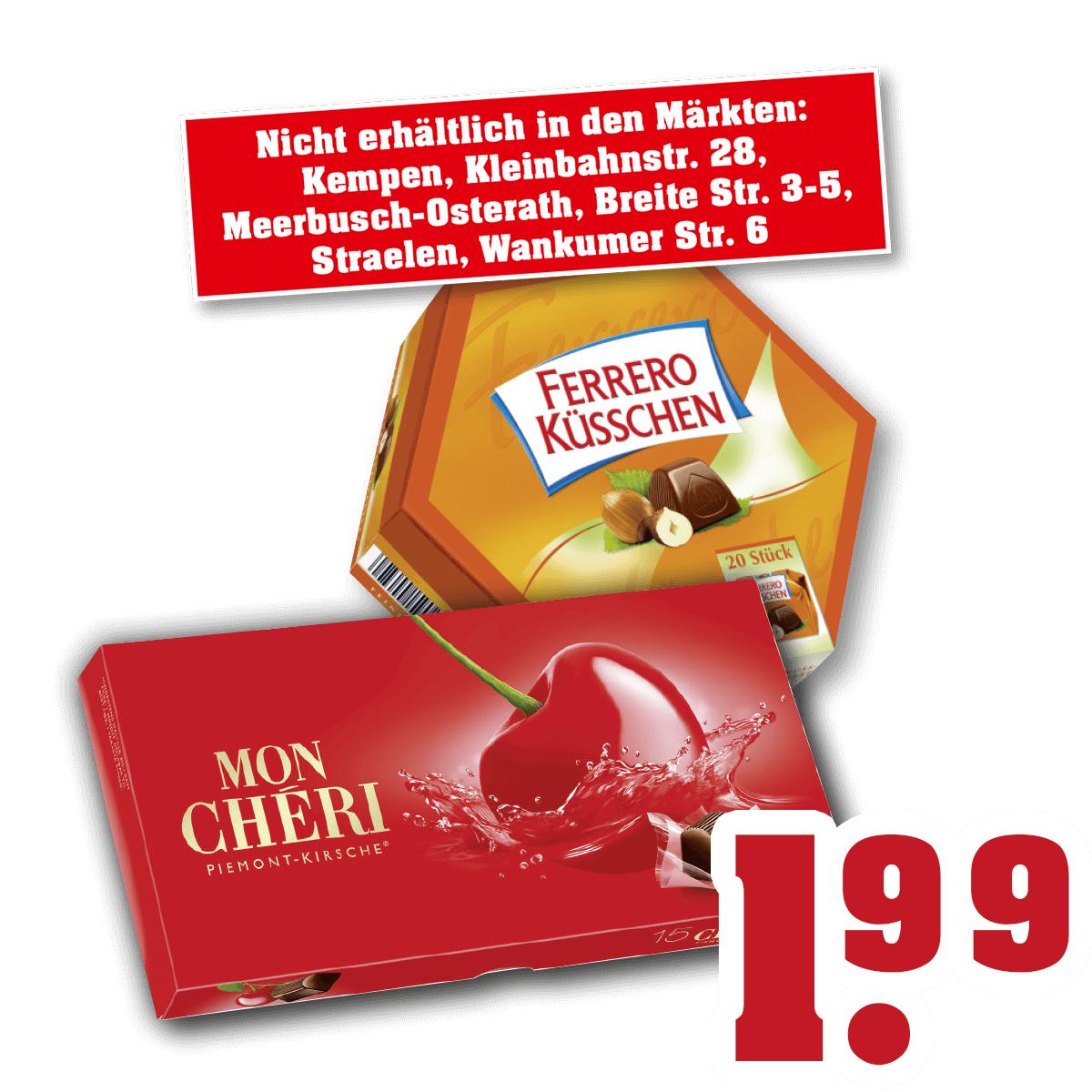Mon Cheri / Ferrero Küsschen für je 1,99€