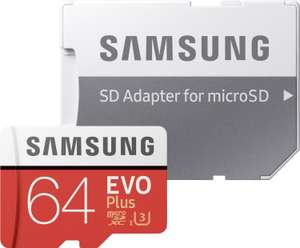 saturn samsung evo plus micro sdxc 64gb bis zu 100mb s. Black Bedroom Furniture Sets. Home Design Ideas