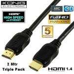 Dreierpack HDMI-Kabel 1.4-Norm bei [ibood]