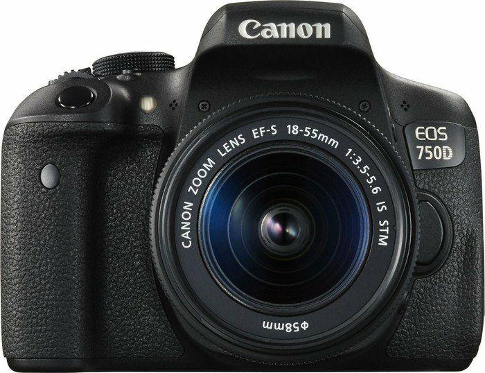Canon EOS 750D Spiegelreflexkamera + 18-55 mm IS STM Objektiv (Amazon.it)