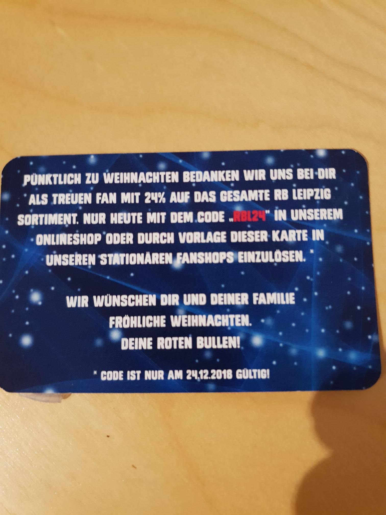 Nur heute 24% im RB Leipzig online shop