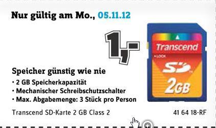 SD Karten für 1 Euro !