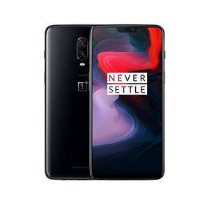 OnePlus 6 - 128/8 GB midnight / mirror black für 459,70€ - Band 20 - [V & V durch Amazon.fr]