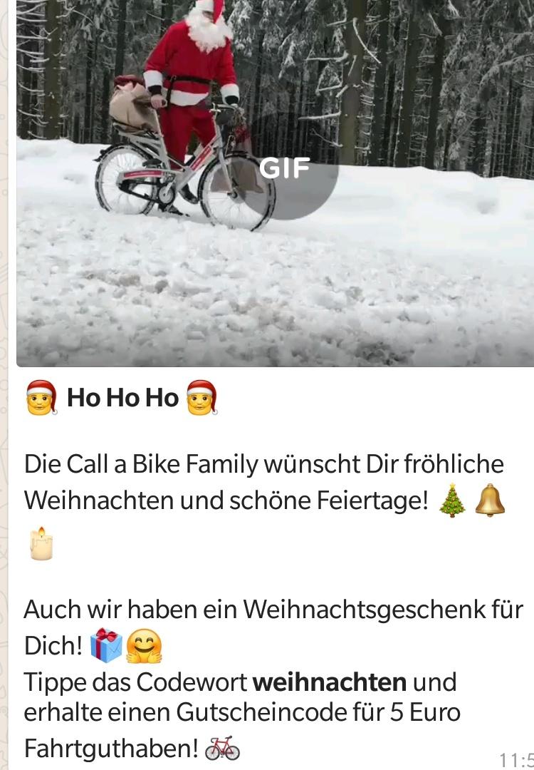 Call a Bike / Fordpass Bike - 5€ Gratis Fahrtguthaben dank WhatsApp Newsletter