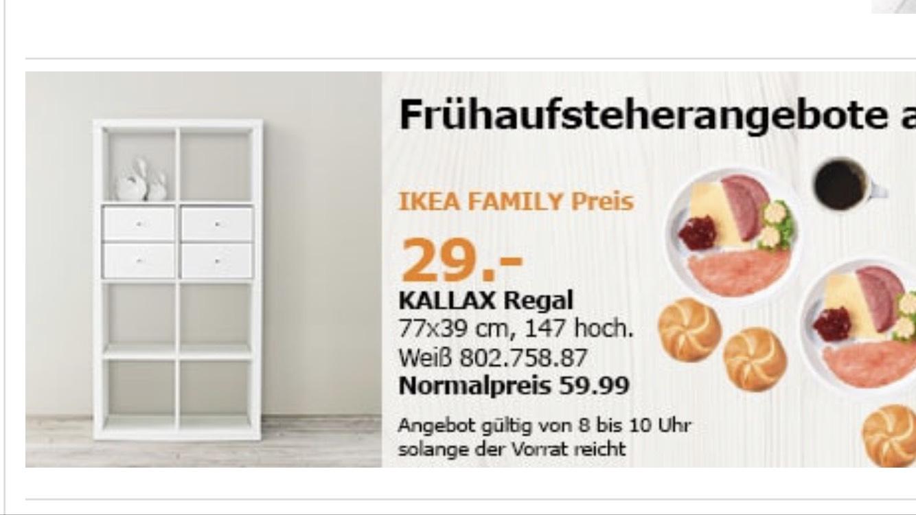 Lokal IKEA Hanau KALLAX 29€ statt 59,99€