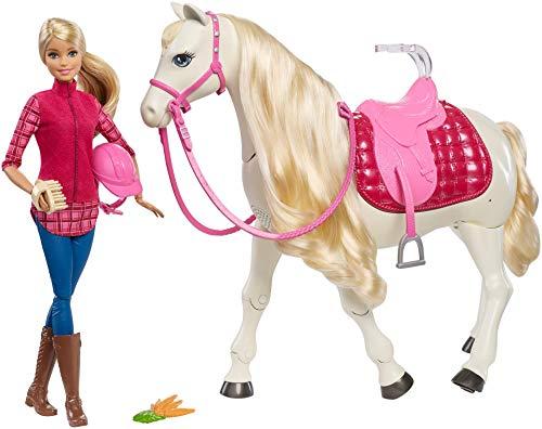 Barbie - Traumpferd und Puppe, laufendes und tanzendes Pferd mit Berührungs- und Geräuschsensoren (Amazon)