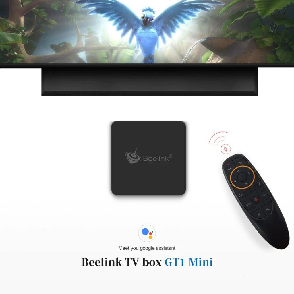 Beelink GT1 MINI TV-Box mit Sprachfernbedienung BLACK 4GB DDR4 32GB ROM EU
