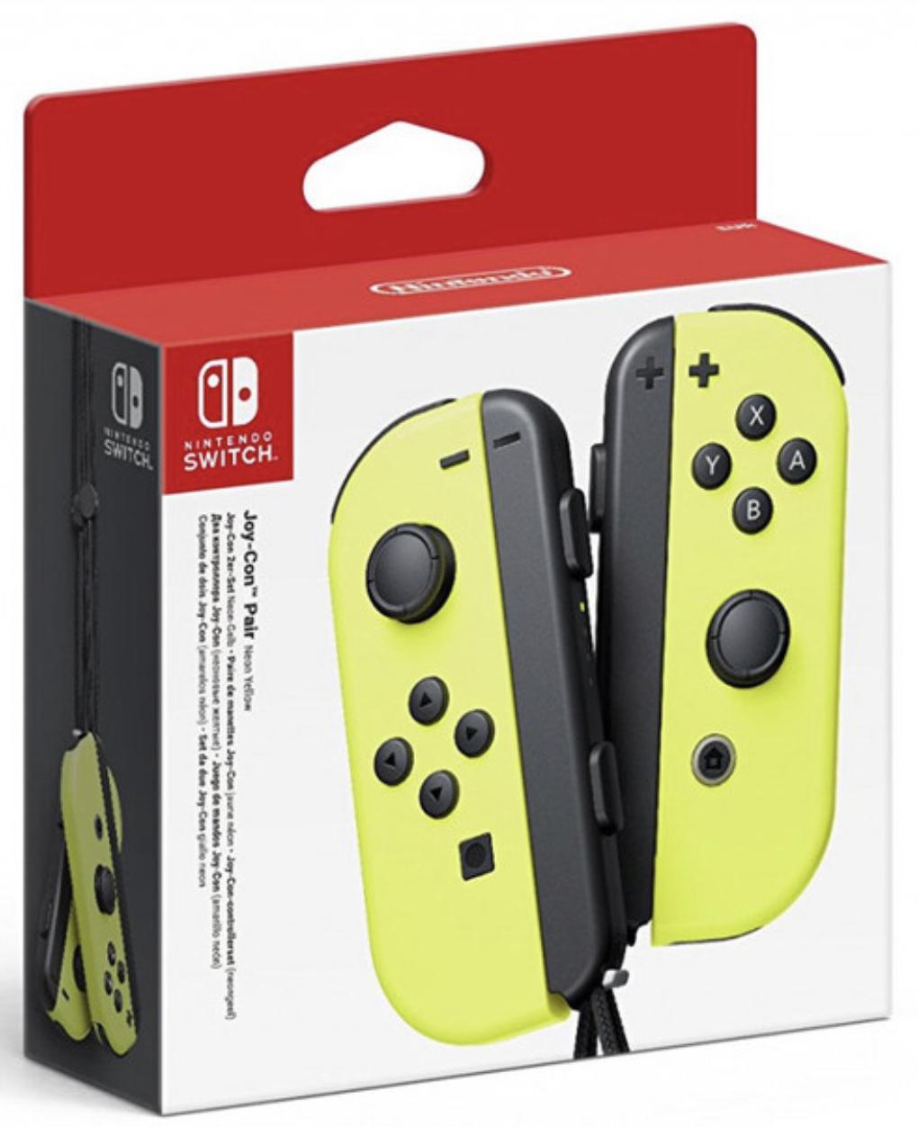 Nintendo Switch Joy-Con Controller 2er-Set Neon-Gelb für 59,90€ inkl. Versandkosten mit Paydirekt