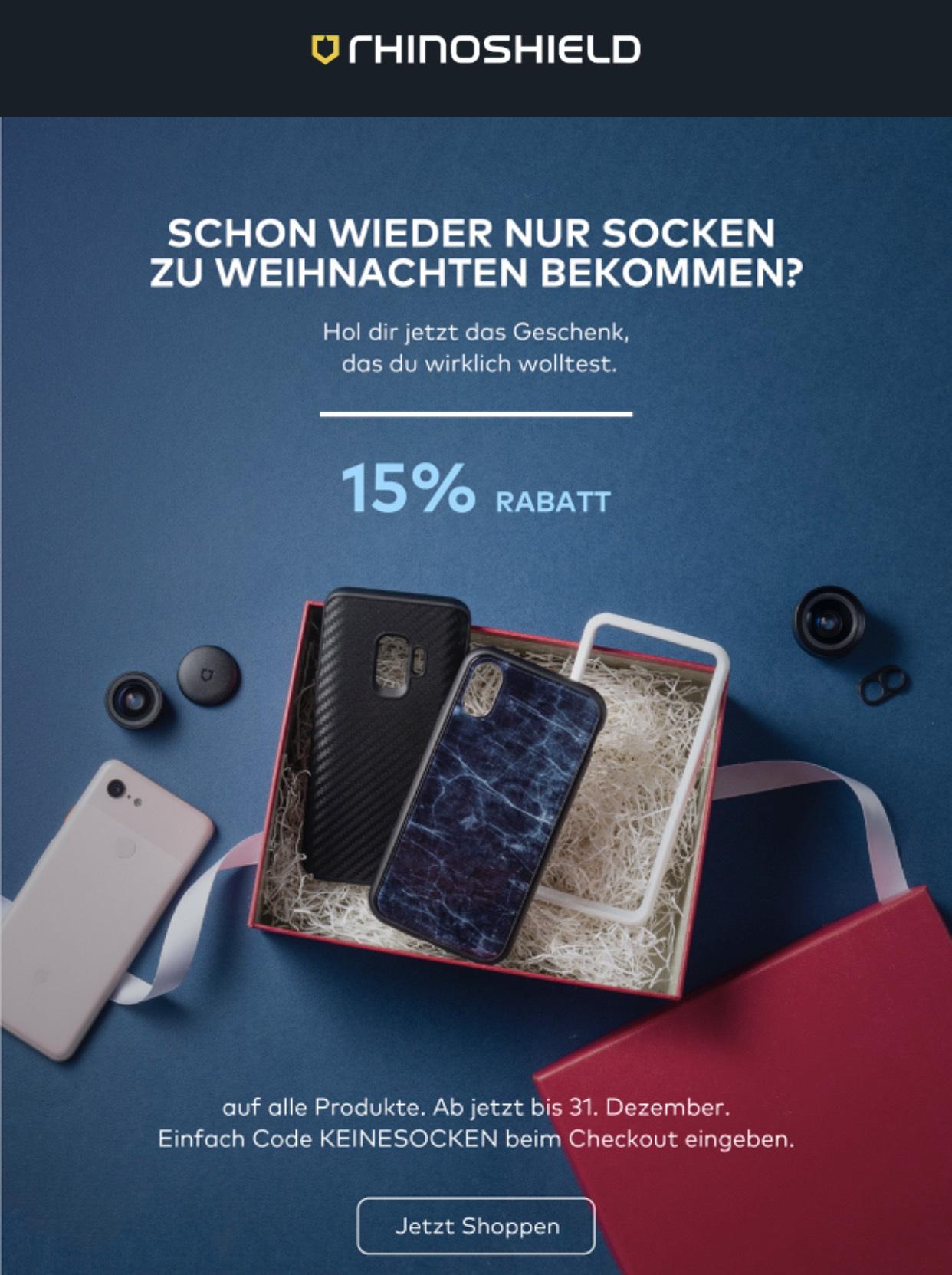 15% Rabatt auf alle rhinoshield Bestellungen - iPhone, Samsung, ... Cases
