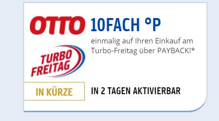 10Fach Punkte am TurboFreitag bei Otto über Payback