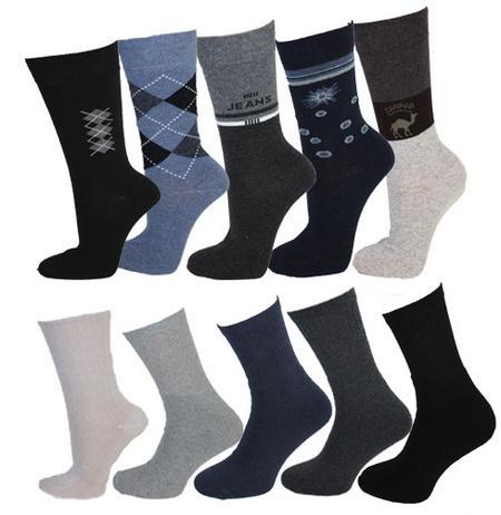 10er-Pack Socken für 9,99€ inkl. Versand  (24 verschiedene Farben und Muster)