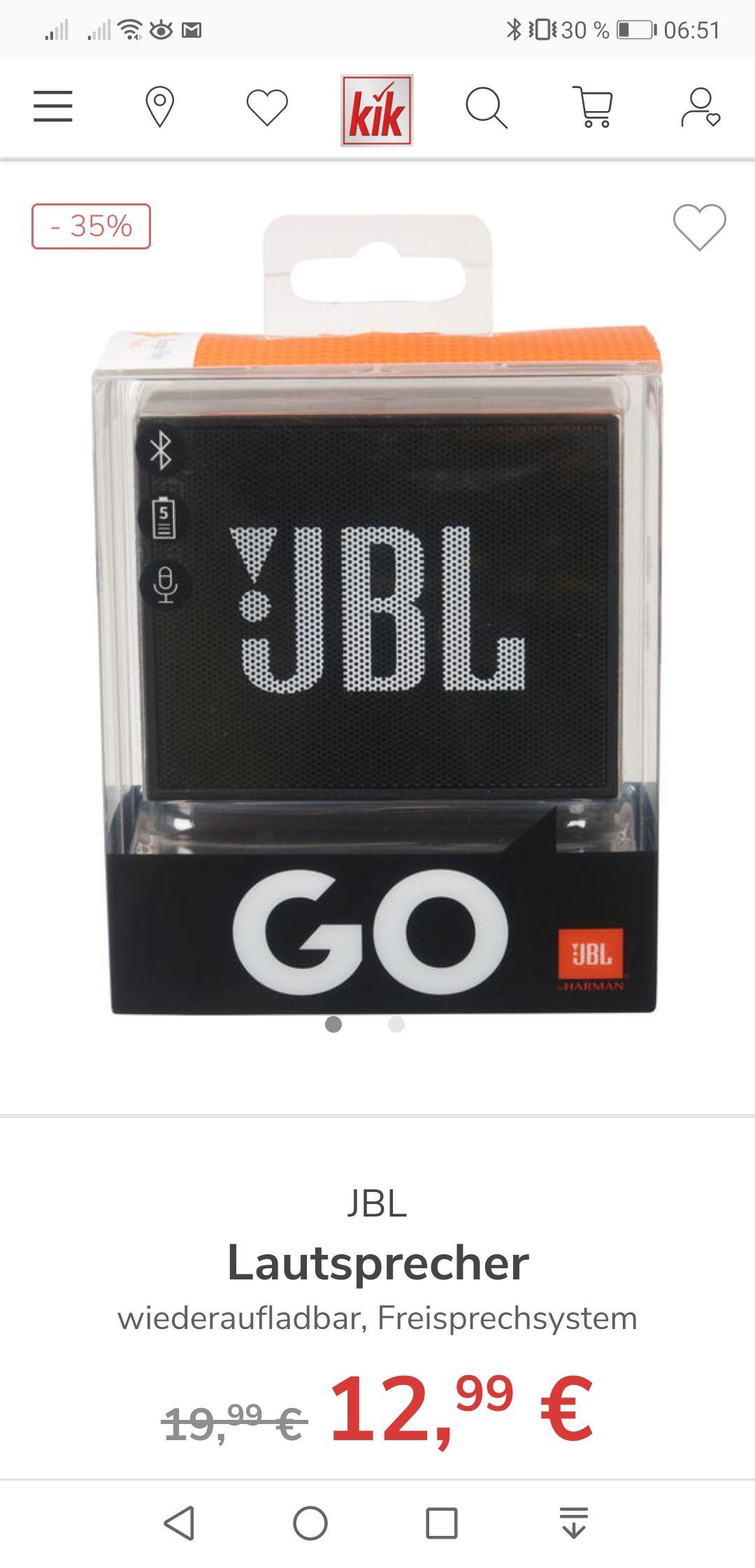 JBL GO schwarz bei KiK.de versandkostenfrei in die Filiale
