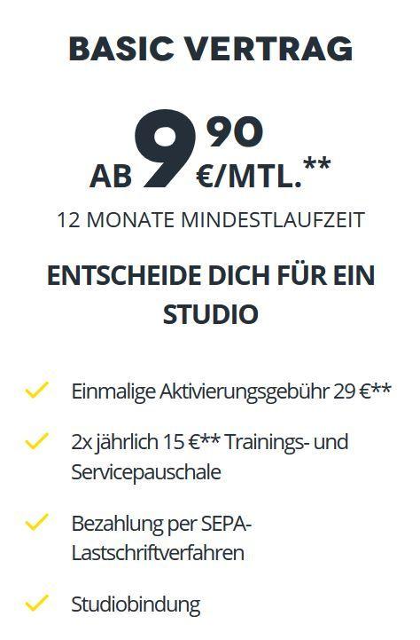 McFit 9,90€/Monat 12 Monate Vertragslaufzeit mit Studiobindung [lokal Osnabrück]