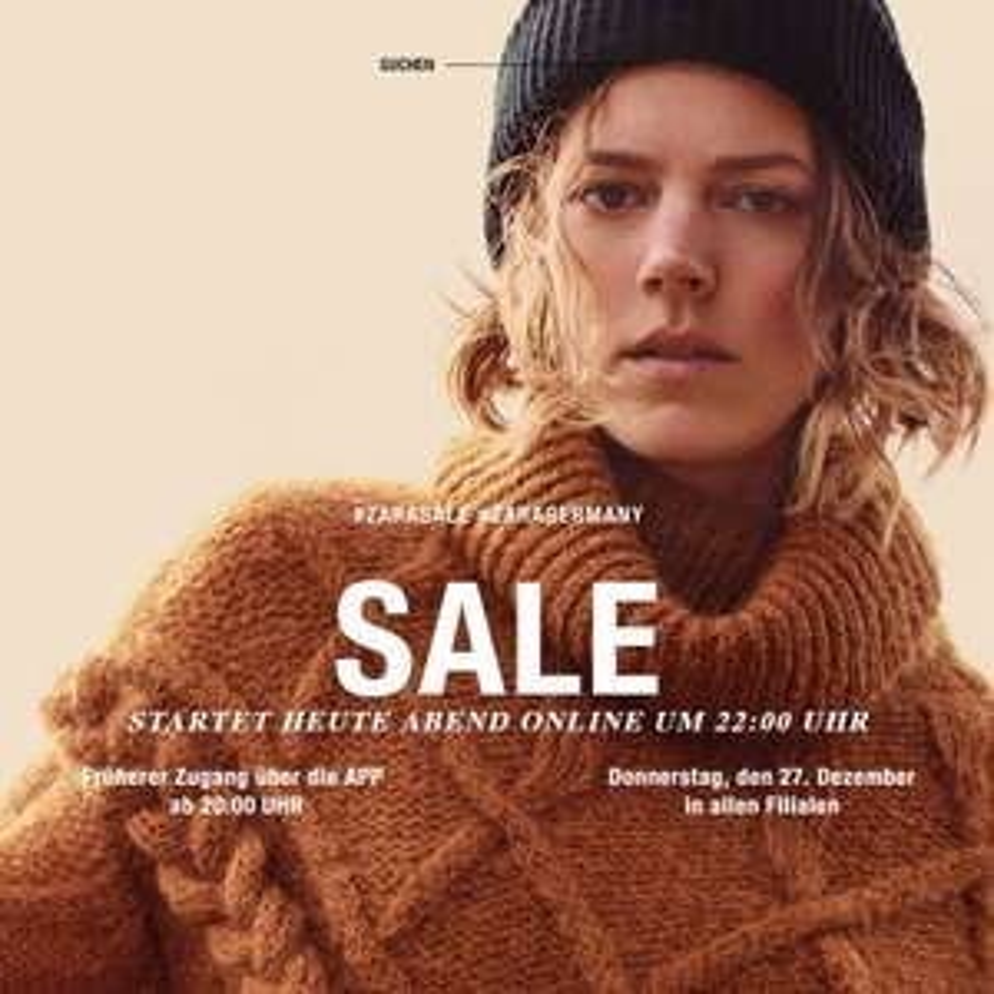 Endstation ZARA-Sale: Mindestens 70% Rabatt auf viele Artikel, T-Shirts für 3,99€, Hosen für 7,99€