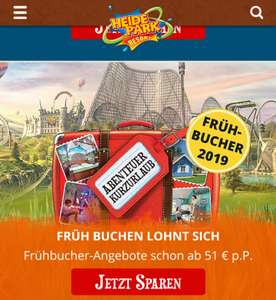 Heide Park 2 Pers. all in für 109€
