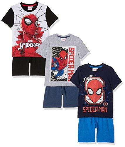 [Amazon Prime] Jungen Schlafanzug Spiderman 3er-Pack (oder Iron Man + Avengers + Captain America)